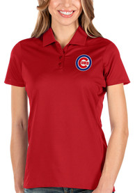 Chicago Cubs Womens Antigua Balance Polo Shirt - Red