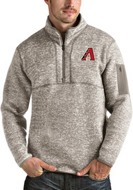 Arizona Diamondbacks Antigua Fortune 1/4 Zip Fashion - Oatmeal