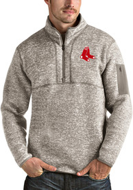 Boston Red Sox Antigua Fortune 1/4 Zip Fashion - Oatmeal