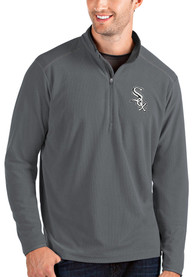 Chicago White Sox Antigua Glacier 1/4 Zip Pullover - Grey