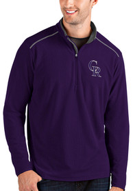 Colorado Rockies Antigua Glacier 1/4 Zip Pullover - Purple