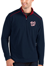 Washington Nationals Antigua Glacier 1/4 Zip Pullover - Navy Blue