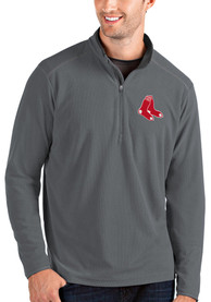 Boston Red Sox Antigua Glacier 1/4 Zip Pullover - Grey