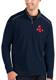 Boston Red Sox Antigua Glacier 1/4 Zip Pullover - Navy Blue