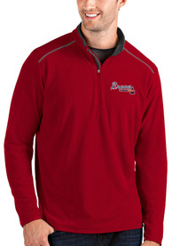 Atlanta Braves Antigua Glacier 1/4 Zip Pullover - Red