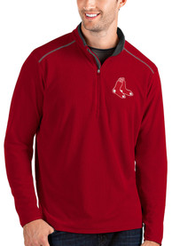 Boston Red Sox Antigua Glacier 1/4 Zip Pullover - Red