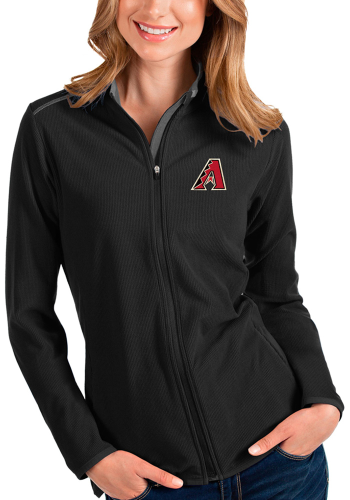Antigua Arizona Diamondbacks Womens Black Glacier Medium Weight Jacket - Image 1