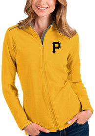 Pittsburgh Pirates Womens Antigua Glacier Light Weight Jacket - Gold