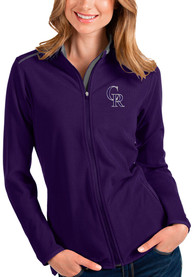 Colorado Rockies Womens Antigua Glacier Light Weight Jacket - Purple
