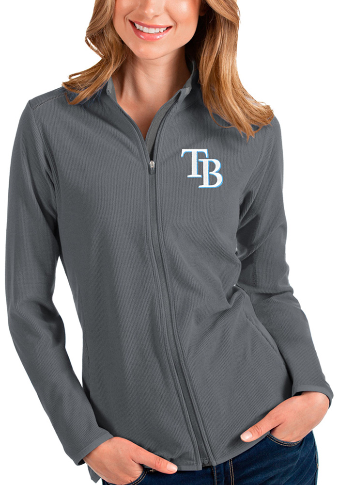 Tampa Bay Rays Womens Grey Glacier Light Weight Jacket - Image 1