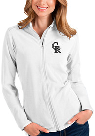 Colorado Rockies Womens Antigua Glacier Light Weight Jacket - White