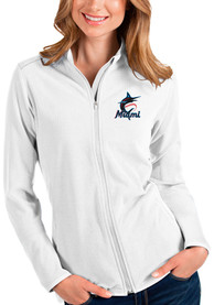 Miami Marlins Womens Antigua Glacier Light Weight Jacket - White