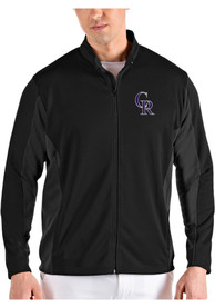 Colorado Rockies Antigua Passage Medium Weight Jacket - Black