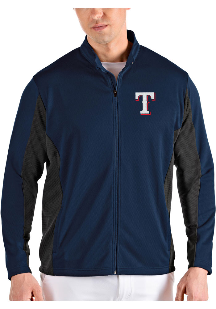 Antigua Texas Rangers Mens Navy Blue Passage Medium Weight Jacket - Image 1