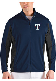 Texas Rangers Antigua Passage Medium Weight Jacket - Navy Blue