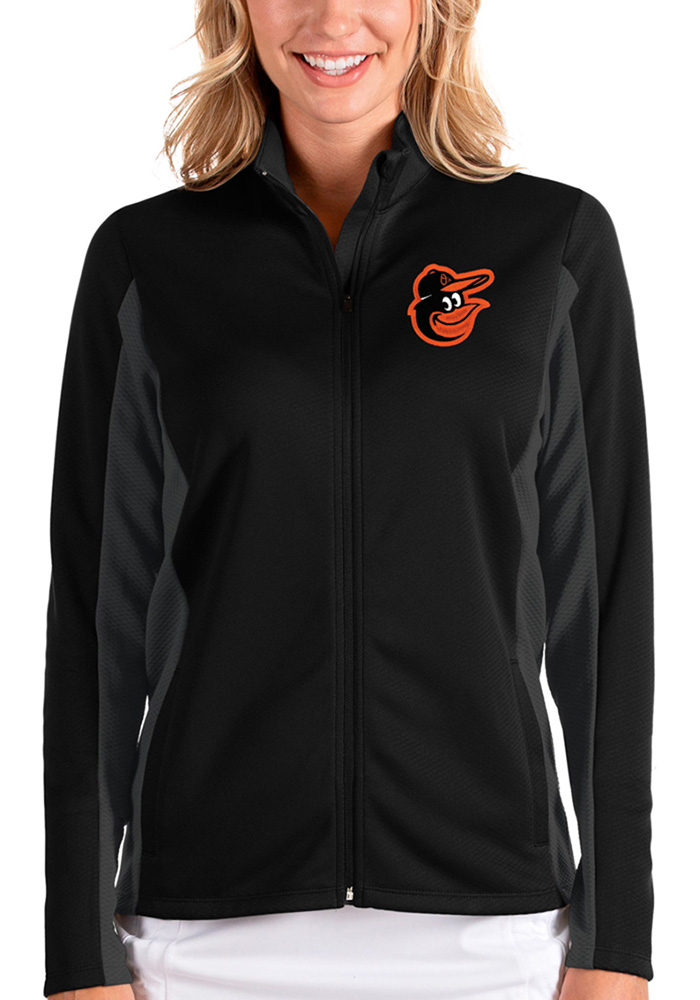 Antigua Baltimore Orioles Womens Black Passage Medium Weight Jacket - Image 1