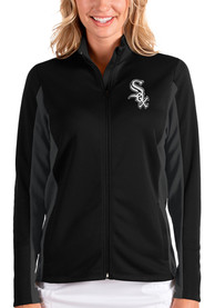 Chicago White Sox Womens Antigua Passage Medium Weight Jacket - Black