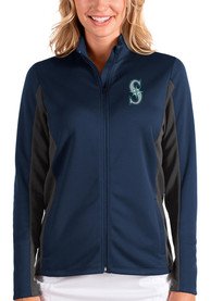 Seattle Mariners Womens Antigua Passage Medium Weight Jacket - Navy Blue