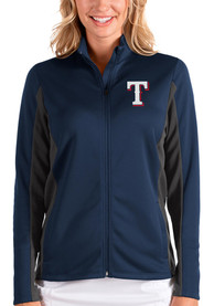 Texas Rangers Womens Antigua Passage Medium Weight Jacket - Navy Blue