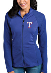 Texas Rangers Womens Antigua Sonar Light Weight Jacket - Blue