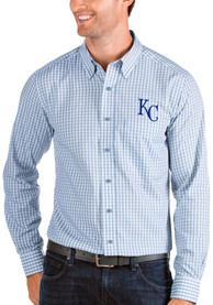 Kansas City Royals Antigua Structure Dress Shirt - Blue