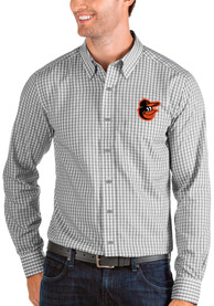 Baltimore Orioles Antigua Structure Dress Shirt - Grey