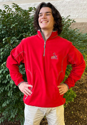 Antigua St Louis Cardinals Red Ice 1/4 Zip Pullover