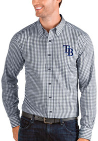 Tampa Bay Rays Antigua Structure Dress Shirt - Navy Blue