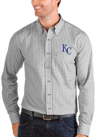 Kansas City Royals Antigua Structure Dress Shirt - Grey