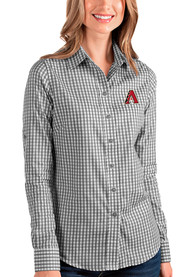 Arizona Diamondbacks Womens Antigua Structure Dress Shirt - Black