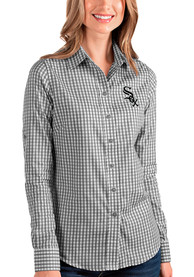Chicago White Sox Womens Antigua Structure Dress Shirt - Black