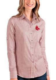 Boston Red Sox Womens Antigua Structure Dress Shirt - Red