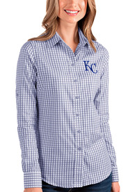 Kansas City Royals Womens Antigua Structure Dress Shirt - Blue