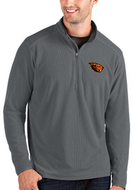 Oregon State Beavers Antigua Glacier 1/4 Zip Pullover - Grey