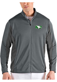 North Dakota Fighting Hawks Antigua Passage Medium Weight Jacket - Grey