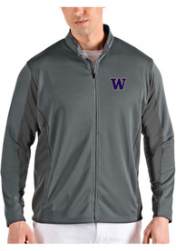 Washington Huskies Antigua Passage Medium Weight Jacket - Grey