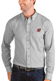 Central Michigan Chippewas Antigua Structure Dress Shirt - Grey