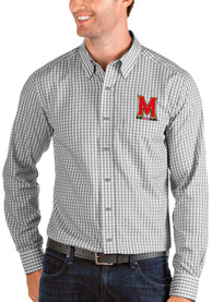 Maryland Terrapins Antigua Structure Dress Shirt - Grey