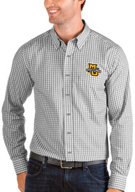 Marquette Golden Eagles Antigua Structure Dress Shirt - Grey