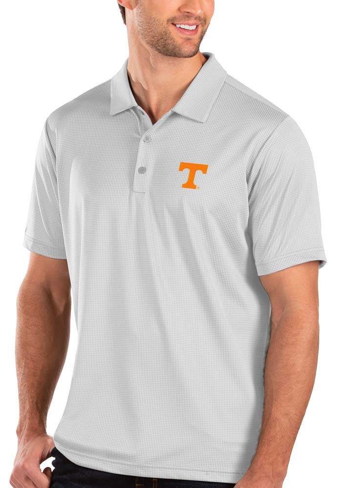 Antigua Tennessee Volunteers Mens White Balance Short Sleeve Polo - Image 1