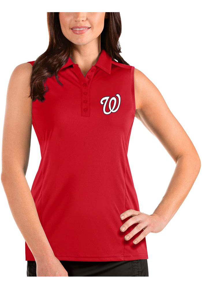 Antigua Washington Nationals Womens Red Tribute Sleeveless Tank Top - Image 1