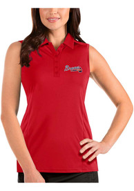 Atlanta Braves Womens Antigua Tribute Sleeveless Tank Top - Red