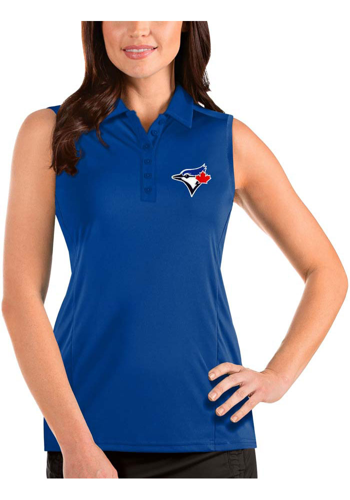 Antigua Toronto Blue Jays Womens Blue Tribute Sleeveless Tank Top - Image 1