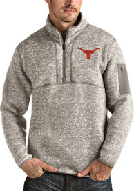 Texas Longhorns Antigua Fortune 1/4 Zip Fashion - Oatmeal