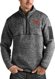 Texas Longhorns Antigua Fortune 1/4 Zip Fashion - Grey