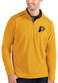 Indiana Pacers Antigua Glacier 1/4 Zip Pullover - Gold
