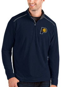 Indiana Pacers Antigua Glacier 1/4 Zip Pullover - Navy Blue