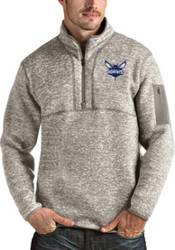Charlotte Hornets Antigua Fortune 1/4 Zip Fashion - Oatmeal