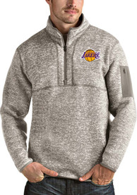 Los Angeles Lakers Antigua Fortune 1/4 Zip Fashion - Oatmeal