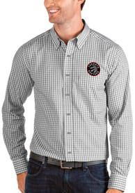 Toronto Raptors Antigua Structure Dress Shirt - Grey